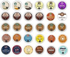 30 Pack - Variety Flavored Coffee Sampler K-Cup for Keurig K Cup Brewers and 2.0 brewers - From Top Brand Names Green Mountain >>> Visit the image link more details.