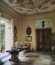 Decorative schemes inside La Fiorentina in St Jean Cap Ferrat