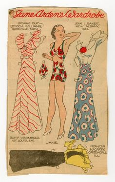 78.2360: Jane Arden's Wardrobe | paper doll | Paper Dolls | Dolls | National Museum of Play Online Collections | The Strong