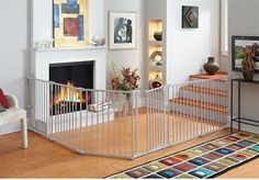 Baby Pet Dog Extra Wide Safety Metal Gate Playard Indoor Outdoor Child Fence New #Regalo