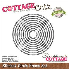 "CottageCutz Basics Dies 9/Pkg-Stitched Circle, 75"" To 3.7... http://www.amazon.com/dp/B019JP6MSA/ref=cm_sw_r_pi_dp_b8klxb097JZ6M"