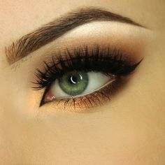 Makeup Geek Eyeshadows in I'm Peachless, Cherry Cola, Latte, Mocha and Shimma Shimma. Look by: AlicjaJ Make Up