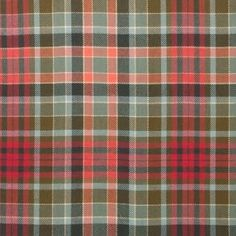 Gordon Red Weathered Lightweight Tartan by the meter – Tartan Shop