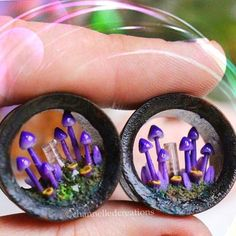 It is #followfriday !!! As if my lovely friend Kristina from @channelled_creations could get any more creative! First she graces us with her magic mushroom portal necklaces...and now magic portal tunnels!? If your ears are stretched...you need these! I may size up just to get a pair myself!