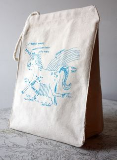 magical unicorn lunch bag - recycled cotton. $16,00, via Etsy.
