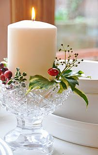 An accent here and there...a well placed peice of holly, a few berries ...the whole house can seem so festive.