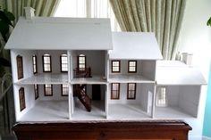 "Wooden Doll House Vintage Large Lawbre 3/8"" Wood Shell Nantucket Doors Windows   eBay #dollhouse"