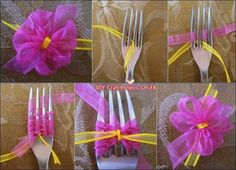 Fork bow, very clever. .