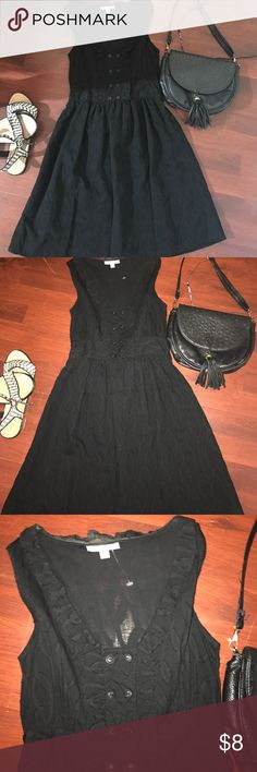 Black above the knee dress, excellent condition Black dress with beautiful designs, perfect for formal or casual occasions! 3.1 Phillip Lim for Target Dresses Mini