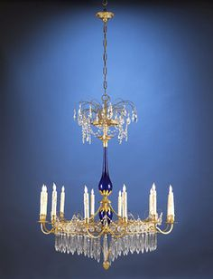 Antique Lighting-Antique Chandlier-Crystal Chandelier-19th-Century Russian ~ M.S. Rau Antiques