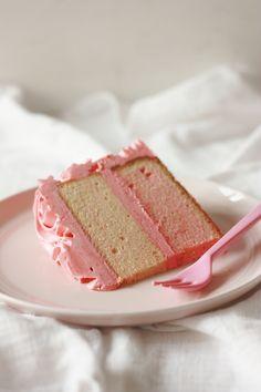 rose cake with swiss meringue buttercream...