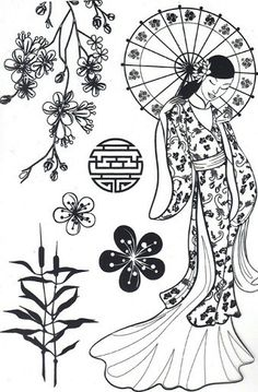 ADULT COLORING PAGE ASIAN ART Adult Colouring Pages 2