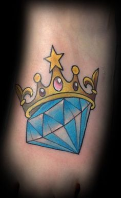 Blue diamond and crown
