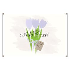 Buy this Cute Spring Tulips Add Text Custom Gardener Florist Banner