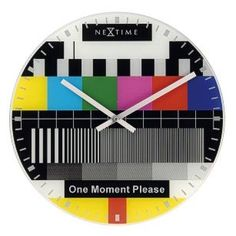 Happy TV Test Pattern Wall Clock