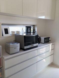 {7E7A9F2B-3FBD-4DD2-A8B8-D2906FD61B03:01} Kitchen Dining, Kitchen Cabinets, Kitchen Appliances, Minimal Home, Tiny House, Minimalism, Home Decor, Dreams, Kitchens