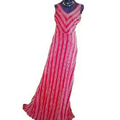 "B2G1NWT LC Conrad BOHO Red Striped Maxi Dress ✔Buy 2 GET 1 item $18 or under FREE! Bundle DISCOUNTS STILL APPLY! See my closet for details!  NWT! Chevron and striped pattern and long Maxi length combined to give you a chic look that's so easy. A gorgeous dress for everyday and Memorial Day. APPROXIMATE Flat measurements: Length: 59"" Bust: 18"" Waist: 15"" 60% cotton 40% Modal. Size M. Please note that with the already know price I don't have a lot of wiggle room for offers.Shoes are for sale…"