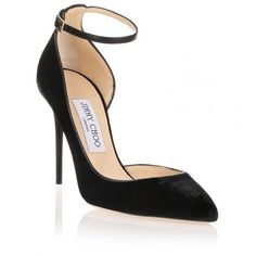Jimmy Choo Lucy Black Velvet D'orsay Pump (€340) ❤ liked on Polyvore featuring shoes, pumps, heels, sapatos, black, d orsay pumps, high heel stilettos, black high heel pumps, high heel shoes and d'orsay pumps