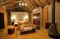 This hidden treasure set amongst the trees of an old Tamboti forest at the foot of an ancient volcanic crater that today comprises one of South Africa's most #exciting #Bigfive eco-tourism destinations. The luxury suites are very private The patio doors open out into the bush, and if you look out quietly, you will see the herds of impala or a lone elephant walking by.  Small #conferences can be #arranged in an #informal #atmosphere. REF (BRGLP)