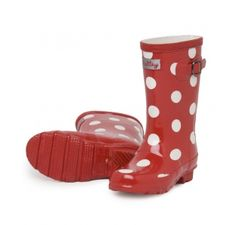 Hatley White Dots On Red Splash Boots at Wellies and Worms £27.95