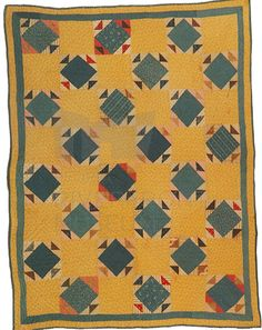 Toad in a Puddle quilt, circa 1915, Lakeview Museum, Illinois