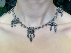 Antique Cut Steel Necklace. @ bell and bird