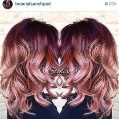 Pinkish Wavy Hair by IGer xostylistxo - #pinkishwave #hairstyle #xostylistxo #hair #haircolor #pinkhair