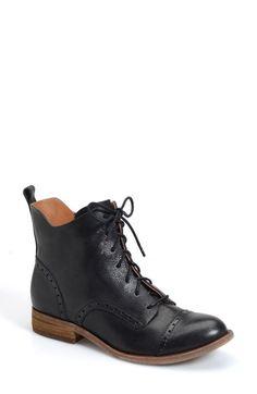Kork-Ease® 'Yoni' Lace-Up Boot leather black, morosita 5sh 1h sz7.5 199.95