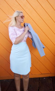 Dajana Skirt Light Blue Fashion Brand, Fashion Show, Fashion Design, Light Blue Skirts, High Waisted Pencil Skirt, Sustainable Clothing, Fashion Labels, Comfortable Outfits, White Dress