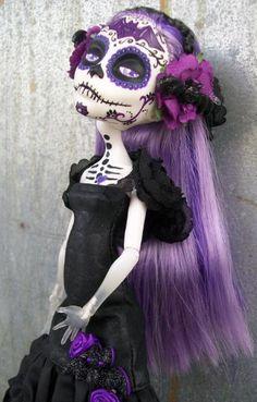 Monster High Halloween Custom Day of The Dead Bat Themed Spectra OOAK | eBay