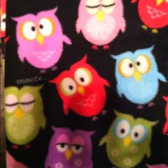 Fleece fabric for blanket  Owl Fabric, Fleece Fabric, Fleece Blankets, Hello Kitty, Fabrics, Artsy, Quilts, Sewing, Crafts