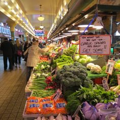 fresh produce at Pike's Place Market in Seattle