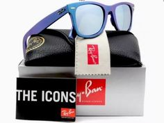 Ray Ban Original Wayfarer Cosmo RB2140F/611330  Mercury Blue/Silver Gradient New