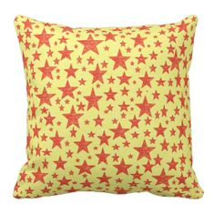 Star Studded Red Pillow