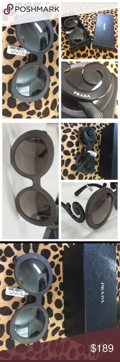 Nwts PRADA baroque matte GREY sunglasses😍✔️ I have struggled with selling or keeping....so I won't take low offers.  There hard to find grey and black baroque prada sunglasses.  Comes with box but no case....tag still attached been stored very carefully no scratches.....❤❤❤❤ Prada Accessories Sunglasses