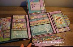 Fairie Dust Graphic 45 Mini Album Tutorial Little Lady Mini image 5 Papel Scrapbook, Vintage Scrapbook, Mini Scrapbook Albums, Scrapbook Paper Crafts, Scrapbook Pages, Paper Crafting, Graphic 45, Diy Mini Album, Mini Album Tutorial