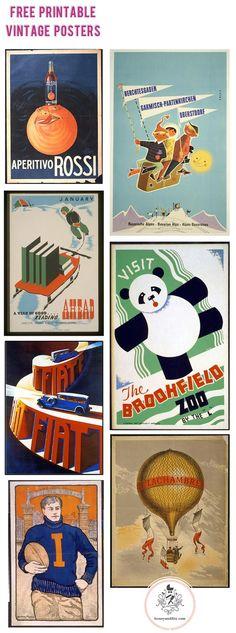 Free Printable Vintage Posters via Honey & Fitz