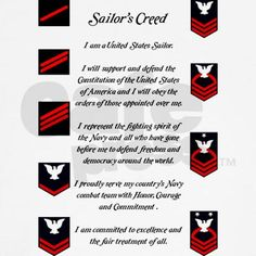 Sailor's Creed- this is what I helped him recite before he left. hopefully he remembered it:)