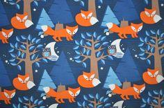 Organic Jersey fabric - Lillestoff - Nightfox - 1/2 yard. €9.90, via Etsy.