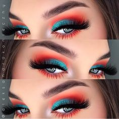29 Karneval Make-up fr Copy Now! Beta Fisch inspiriert Lidschatten 29 Karneval Make-up fr Copy Now! Makeup Eye Looks, Creative Makeup Looks, Eye Makeup Art, Colorful Eye Makeup, Cute Makeup, Pretty Makeup, Skin Makeup, Bright Makeup, Makeup Eyeshadow