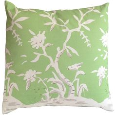 Dana Gibson Cliveden Green Throw Pillow (13.180 RUB) ❤ liked on Polyvore featuring home, home decor, throw pillows, green home accessories, asian throw pillows, asian home decor, green toss pillows and green home decor