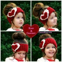 CreatiKnit   2 Valentine's Free Head Warmer Patterns…In Knit & Crochet! This is SO cute! I need one.