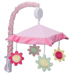 Trend Lab Splash Mobile, Pink Musical mobile. Measures 18 tall x 20 wide. Plays Brahms lullaby. Encourage eye tracking and sound perception skills. Easily attaches to most cribs.  #Trend_Lab #Baby_Product