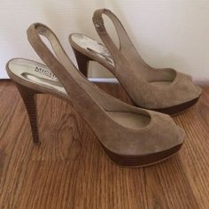 Michael Kors, Open toe sling back heel. Never worn!!!! Very comfortable heel! Michael Kors Shoes