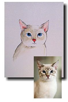 original artwork of your pet CUSTOM pet portraits Original paintings of your pet POP art pet portraits Dog portraits Cat portraits,one kind original paintings on canvas Pet memorial. Seven years ago my son brought home a goldfish and named him Swimmy . He kept him in his room . It was his job to to care for him. After some time he became part of the family . One sad day Swimmy passed away and my son was broken hearted. He cried for days we even had a little funeral for him. It got me to...
