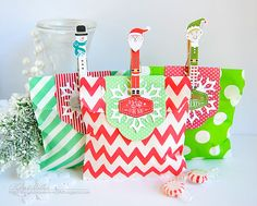 Christmas Treat Bags by Kay Miller for Papertrey Ink (October 2015)