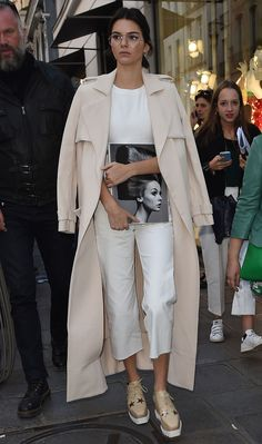 Kendall Jenner Nails Off-Duty Chic in Asos Jumpsuit and Stella McCartney Platform Oxfords