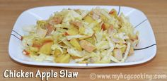 Chicken Apple Slaw       1.5 cups Cabbage, shredded    3.5 oz Chicken, cooked and diced  1 Apple, diced  1 tsp Mustard  1 Tbsp Apple Cider Vinegar  5 drops Liquid Stevia       Mix mustard, ACV and stevia in a container large enough to hold the other ingredients.  Add cabbage,  apple and chicken and toss to coat.  Eat immediately or refrigerate for later.