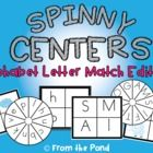 Spinny Centers  Make a Center from old DVDs and cases  Learn Alphabet  Letter sound match  upper and lower case single sounds
