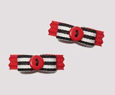 "#T8938 - 3/8"" Dog Bow - Cute as a Button!"